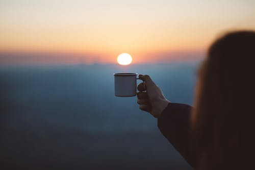 coffe and sunset